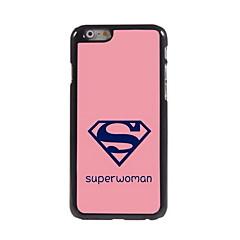 Pink Bottom Mark Pattern Aluminum Hard Case for iPhone 6/6S