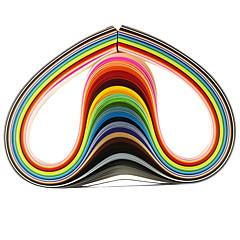 120db 5mmx53cm Quilling papír (24 szín x5 db / szín) diy kézműves művészet dekoráció