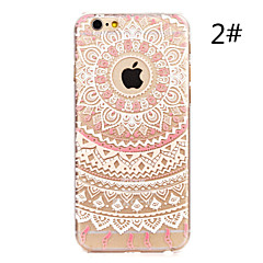 Flower Painted Pattern Hard Plastic Back Cover For iPhone 7 7 Plus 6s 6 Plus