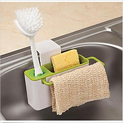 Sink Caddy Self Draining with Brush Holder-- Konsait Kitchen Sink Organizer