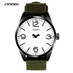Herren Sportuhr Armbanduhr Quartz Wasserdicht Legierung Band Grün Marke SINOBI