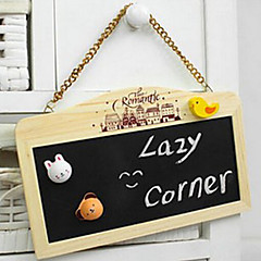 Stationery Mini Wooden Magnetic Sided Hanging Small Blackboard Message Board