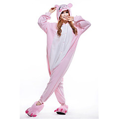 New Cosplay® Pink Pig Polar Fleece Adult Kigurumi Pajama(without Shoes)