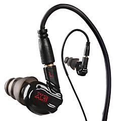x3 sport hörlurar kör med mikrofon för mp3-spelare, mp4, mobiltelefoner in-ear headset ljudisolerande hörlurar
