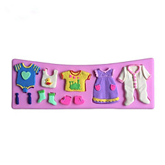 Beautiful Clothes Shaped Fondant Cake Chocolate Silicone Mold, Decoration Tools Bakeware