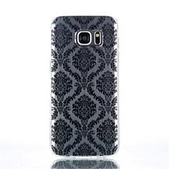 Voor Samsung Galaxy S7 Edge Transparant / Patroon hoesje Achterkantje hoesje Tegels TPU SamsungS7 edge / S7 / S6 edge plus / S6 edge / S6
