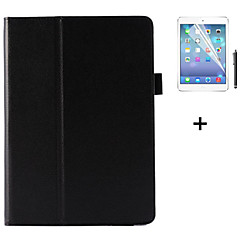PU Leather Solid Color Flip Smart Stand Case For iPad Air +Screen Protector Film Stylus Pen (Assorted Colors)