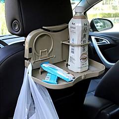 ZIQIAO Car Foldable Seat back Headrest Multi-Functional Travel Dining Tray Beverage Holder/Phone Holder