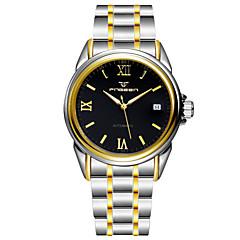 Herren Kleideruhr Quartz Wasserdicht Legierung Band Armbanduhr Silber