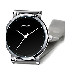 SINOBI® Men's Watch High Quality Top Brand Super Slim Steel Quartz watch Males Casual Fashion Wrist Watch Cool Watch Unique Watch