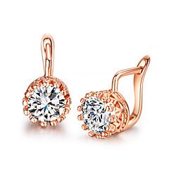 Earring Stud Earrings Jewelry Women Alloy / Cubic Zirconia 2pcs Silver / White