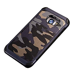 Mert Samsung Galaxy S7 Edge Ütésálló / Minta Case Hátlap Case Álcázás PC SamsungS7 Active / S7 plus / S7 edge / S7 / S6 edge plus / S6