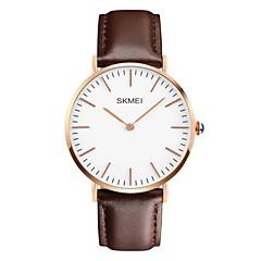 SKMEI® Men's  Simple Fashion Leather Band Quartz Watch Cool Watch Unique Watch