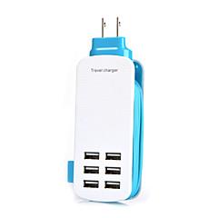 мы 6port USB зарядное гнездо lightningproof анти перегрузки 5v длины выходного напряжения 6а каната: 1,4 м (разных цветов)