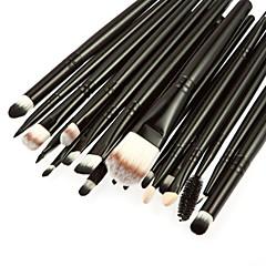 20szt profesjonalny kozy / kucyk włosy kosmetyk do makijażu Zestaw szczotka rumieniec / eyeshadow / rzęs / brwi / wargi szczotki