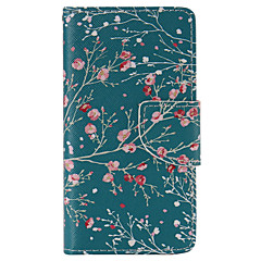 Apricot Tree Painted PU Phone Case for Sony Xperia Z5 Compact/Z5