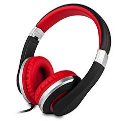 Kanen i20 opvouwbare 3.5mm stereo-over-ear hoofdtelefoon voor iphone samsung in-line volumeregeling microfoon