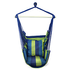 SWIFT Outdoor® Portable Cottton Stripe Swing Outdoor Garden Indoor Hammock Hanging Chair Outdoor