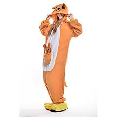 Kigurumi Pyjamas New Cosplay® / Kenguru Trikoot/Kokopuku Halloween Animal Sleepwear Keltainen Patchwork Polar Fleece Kigurumi Unisex