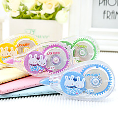 2PCS Mini cute cartoon correction tape with 10 m * 4 suit students stationery(Style random)