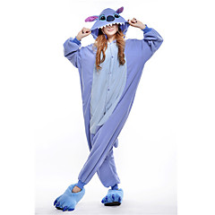 Kigurumi Pyjamas New Cosplay® / Stitch / Monster Trikoot/Kokopuku Halloween Animal Sleepwear Sininen Patchwork Polar Fleece Kigurumi