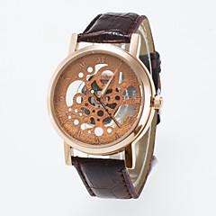 Hombre Mujer Unisex Reloj Esqueleto Reloj de Pulsera Cuarzo / PU Banda Casual Negro Marrón Negro Café