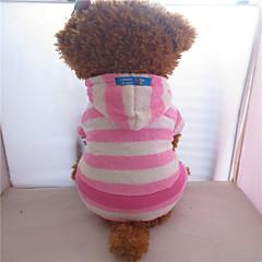 Perros Saco y Capucha / Mono Rosado Primavera/Otoño Rayas Cebra, Dog Clothes / Dog Clothing-Pething®