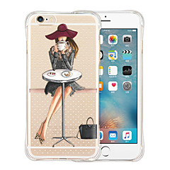 Für iPhone 5 Hülle Stoßresistent / Transparent / Muster Hülle Rückseitenabdeckung Hülle Sexy Lady Weich Silikon iPhone SE/5s/5