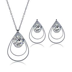 Smykkesæt Rustfrit Stål Zirkonium Titanium Stål Mode Geometrisk form Sølv Halskæde / Øreringe Bryllup Fest Daglig Afslappet 1 Sæt