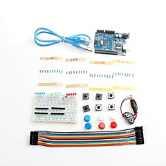 New Starter Kit UNO R3 Mini Breadboard LED Jumper Wire Button For Arduino Compatile