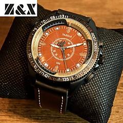 Hommes Montre Bracelet Quartz Cuir Bande Noir Marque