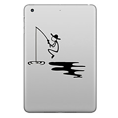 Hat-Prince Fishing Pattern Removable Decorative Sticker for IPAD
