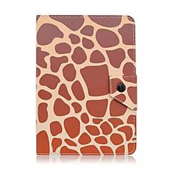 patrón del grano del leopardo de cuero caja de la tableta universal de la cubierta del caso del soporte de 7 pulgadas para la cubierta del