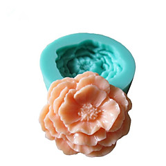 3D Peony Flowers Silikon Mold Fondant Molds Sugar Craft Tools Sjokolade Mould for kaker