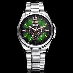 Hombre Reloj de Pulsera Cuarzo Resistente al Agua / Luminoso Aleación Banda Plata Marca-