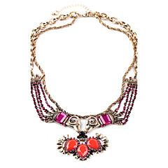 European Fashion Vintage Necklace Alloy Luxurious Multistorey Statement Necklaces 1pc