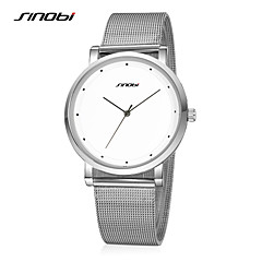 SINOBI Top Luxury Brand For Mens Dress Watches Gents Super Slim Steel Quartz-watch Males Casual Best Wrist Watch Cool Watch Unique Watch