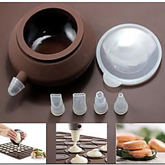Macaron Baking Decorating Pen Pastry Cream Cake Muffin 4 Nozzle Silicone Set