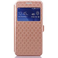 Mert Samsung Galaxy tok Kártyatartó / Állvánnyal / Betekintő ablakkal / Flip Case Teljes védelem Case Mértani formák Műbőr SamsungGrand