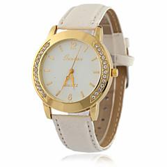 Damskie Modny Zegarek na nadgarstek Sztuczny Diamant Zegarek Kwarcowy / sztuczna Diament PU Pasmo Postarzane Nowoczesne Na co dzień Czarny