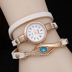 Women's Three Ring Winding Sapphire Peacock Eye Quartz Watch Cool Watches Unique Watches