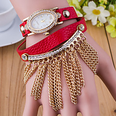 Women's  The European Version Of The Golden Three Winding Chain Korea Oval Pendant Watch (Assorted Colors) Cool Watches Unique Watches