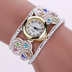 Dames Modieus horloge Kwarts Vrijetijdshorloge Leer Band BohémienZwart Wit Blauw Zilver Rood Bruin Groen Roze Paars Beige Marineblauw