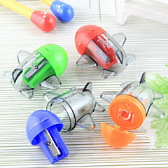 Plane Shaped Manual Pencil Sharpener(Random Color)