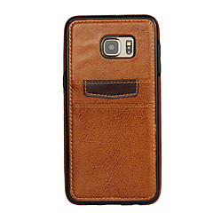 For Samsung Galaxy Case Card Holder Case Back Cover Case Solid Color PC Samsung S6 edge plus / S6 edge / S6