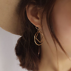 Earring Stud Earrings Jewelry Women Party / Daily / Casual Copper 1 pair Gold / Silver
