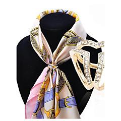 bufanda de la manera hualuo® europeo y americano de la hebilla de alto grado ms broche de diamantes de Corea. accesorios chal hebilla