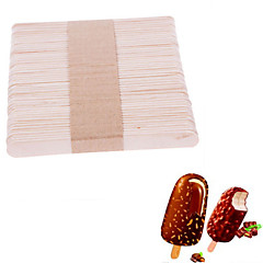 50Pcs Wooden Popsicle Stick Kids Hand Crafts Art Ice Cream Lolly Cake DIY Making Funny Hot