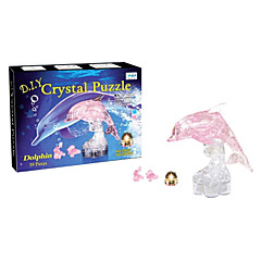 3 D Crystal Dolphin Blocks Puzzle Diy Creative Educational Toys Small Children Toys