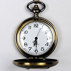 Unisex Pocket Watch Classical Carved Birds Large Clamshell Pocket Watch Flour Arrows